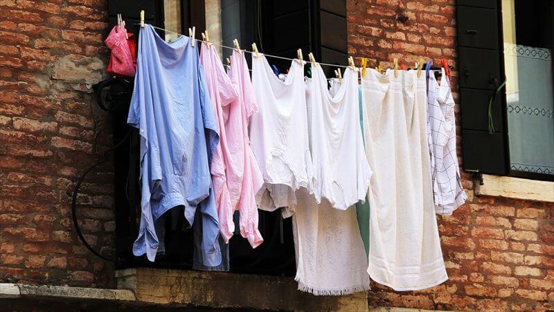 洗濯ものが干せない